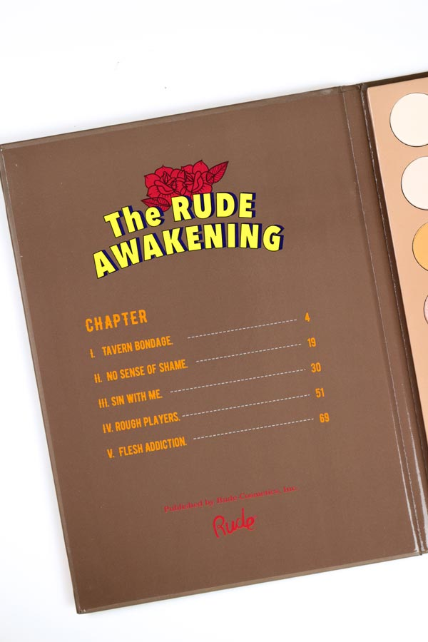 The Rude Awakening Eyeshadow Palette [Book 5]