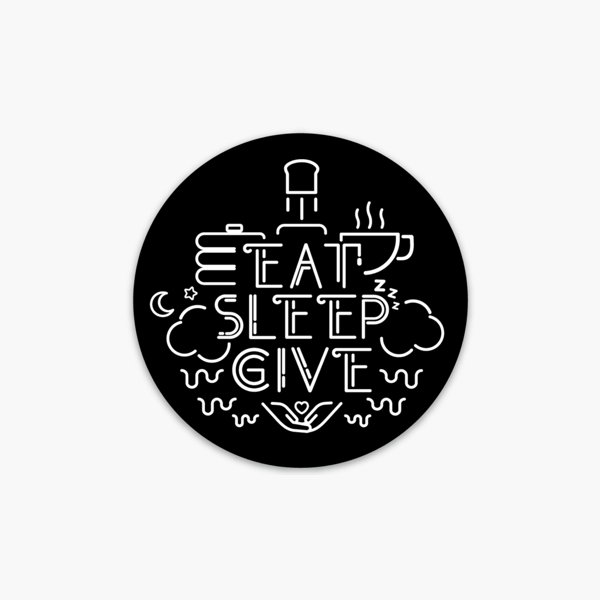LIMITED EDITION EAT. SLEEP. GIVE. CIRCLE STICKER