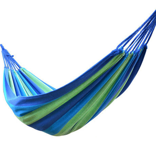 2 Person outdoor Leisure bed hanging canvas swing hammock