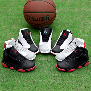 Children Basketball Black Boys Girls Trainers Sport Leather