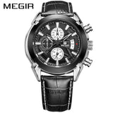 MEGIR Original Quartz Watch Leather Business/sport