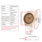 Ladies' Bamboo Wood Quartz Watch Silicone Straps