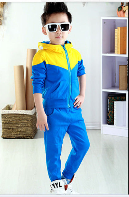 Hoodies Jackets, Pants Children Clothing Sports Suit For Boy