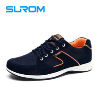 SUROM  Casual Shoes Breathable Fashion Luxury Brand Man Shoe