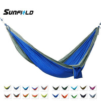 Sunfield Nylon Parachute Fabric Hammock Camping Portable Outdoor Hammock for 2 Person