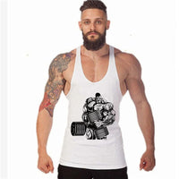 Bodybuilding Vest Stringer Sportswear Undershirt Cartoon Hulk Dumbbell