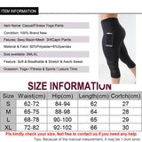 Capri Pant Sport leggings Women Fitness Yoga Gym High Waist  Black Mesh 3/4 Yoga