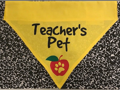 Teacher's Pet Bandana - Over the Collar