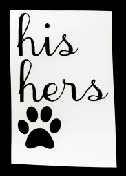 His Hers Pawprint Decal