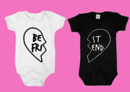 Best Friend Twin Onesie Set