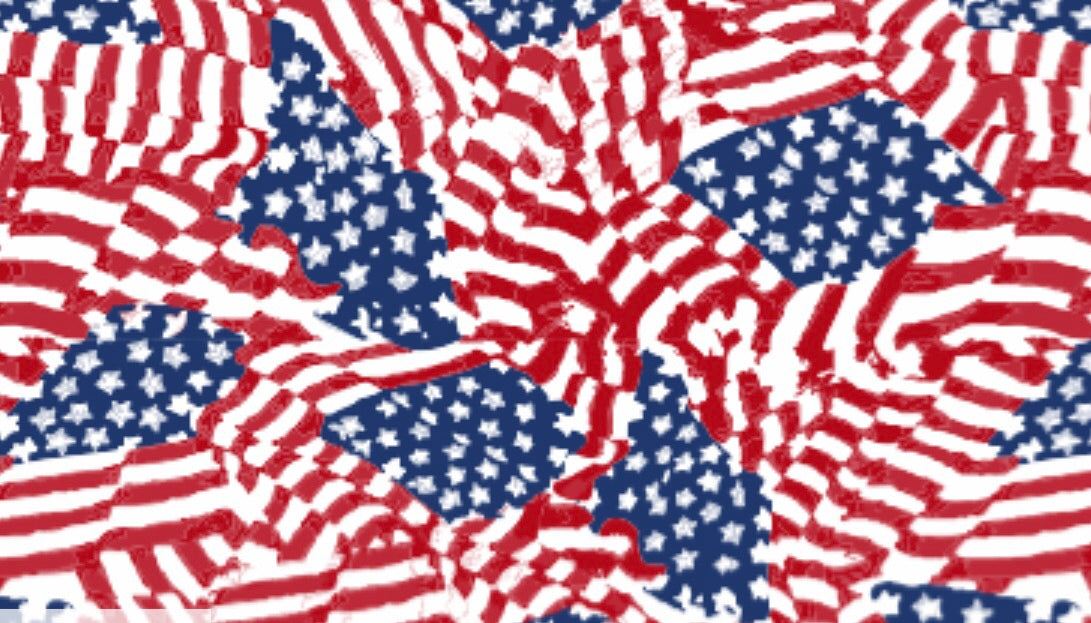 "America the Beautiful Flag Pattern HTV Roll 20""x3'"
