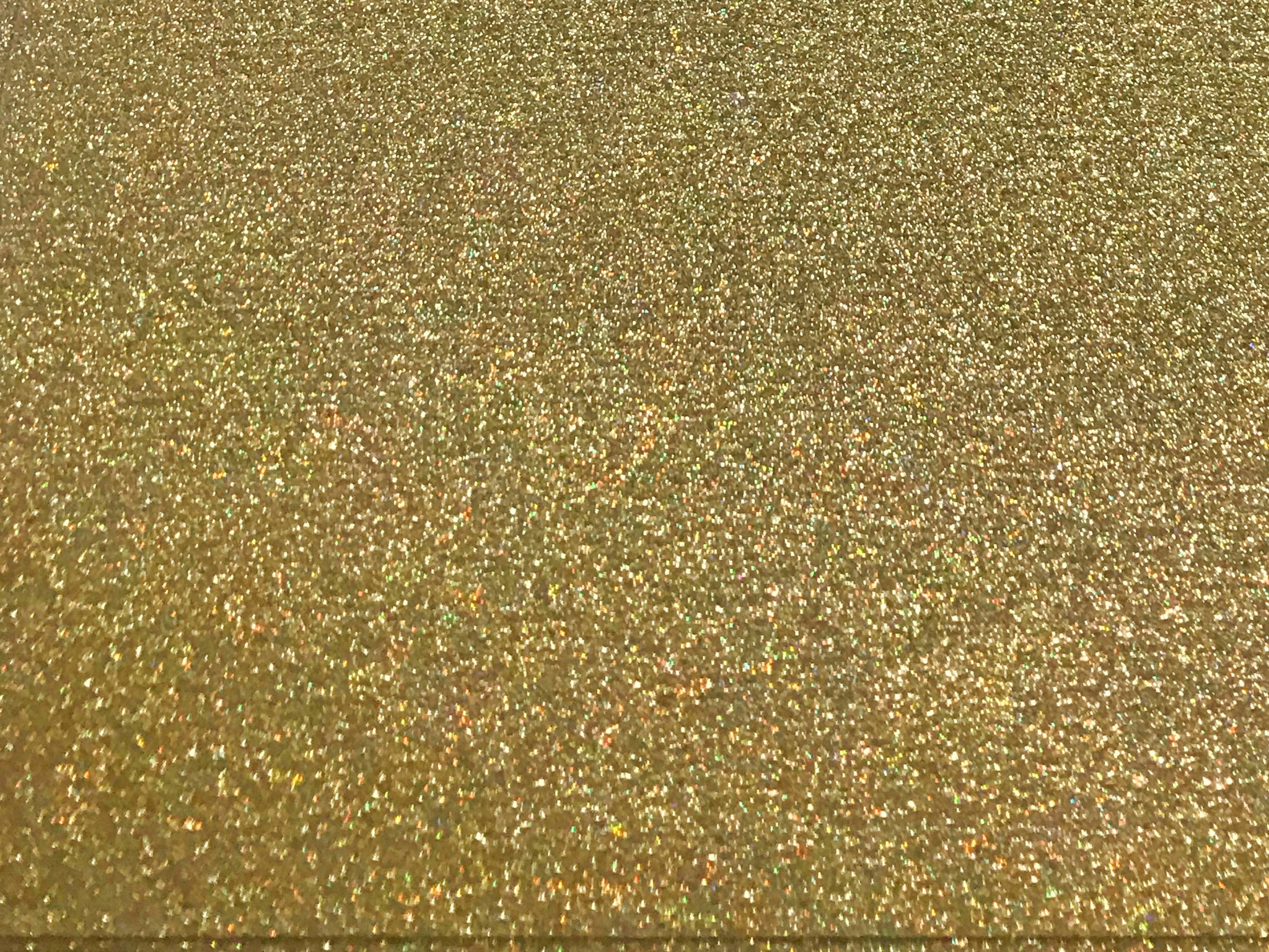 "Hologram Gold Glitter Flake Sheet 12""x20"""