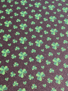 "Shamrocks Glitter Pattern 20""x3' Roll HTV"