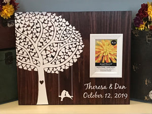 Wedding Wood Sign Picture Frame Guest Book