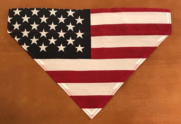 American Flag Over the Collar Pet Bandana!