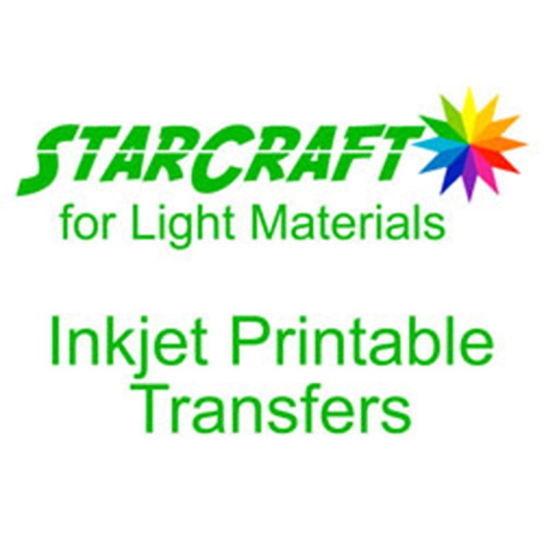 StarCraft Printable Heat Transfer Vinyl Sheet for Light Material