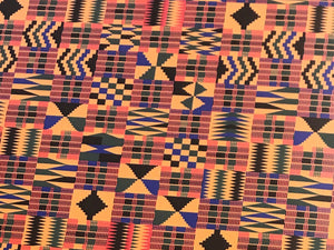 "African Kente Cloth 12""x20"" Sheet"