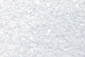 "Rainbow White Glitter Flake Sheet - 12""x20"""