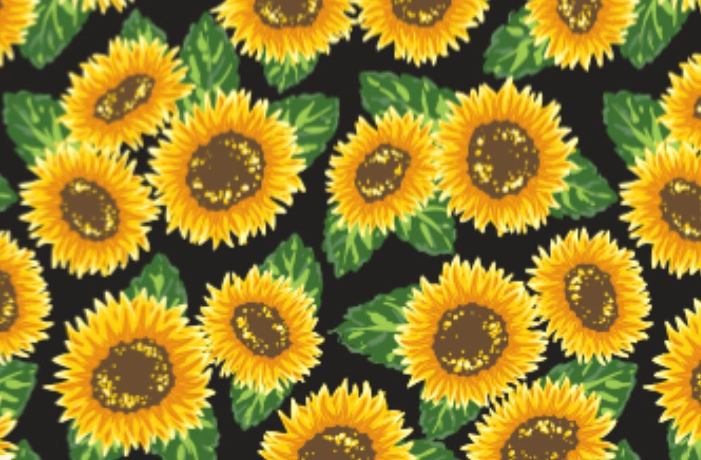 "Sunflowers Pattern HTV Roll 20""x36"""