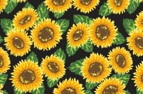 "Sunflowers Roll 20""x36"""