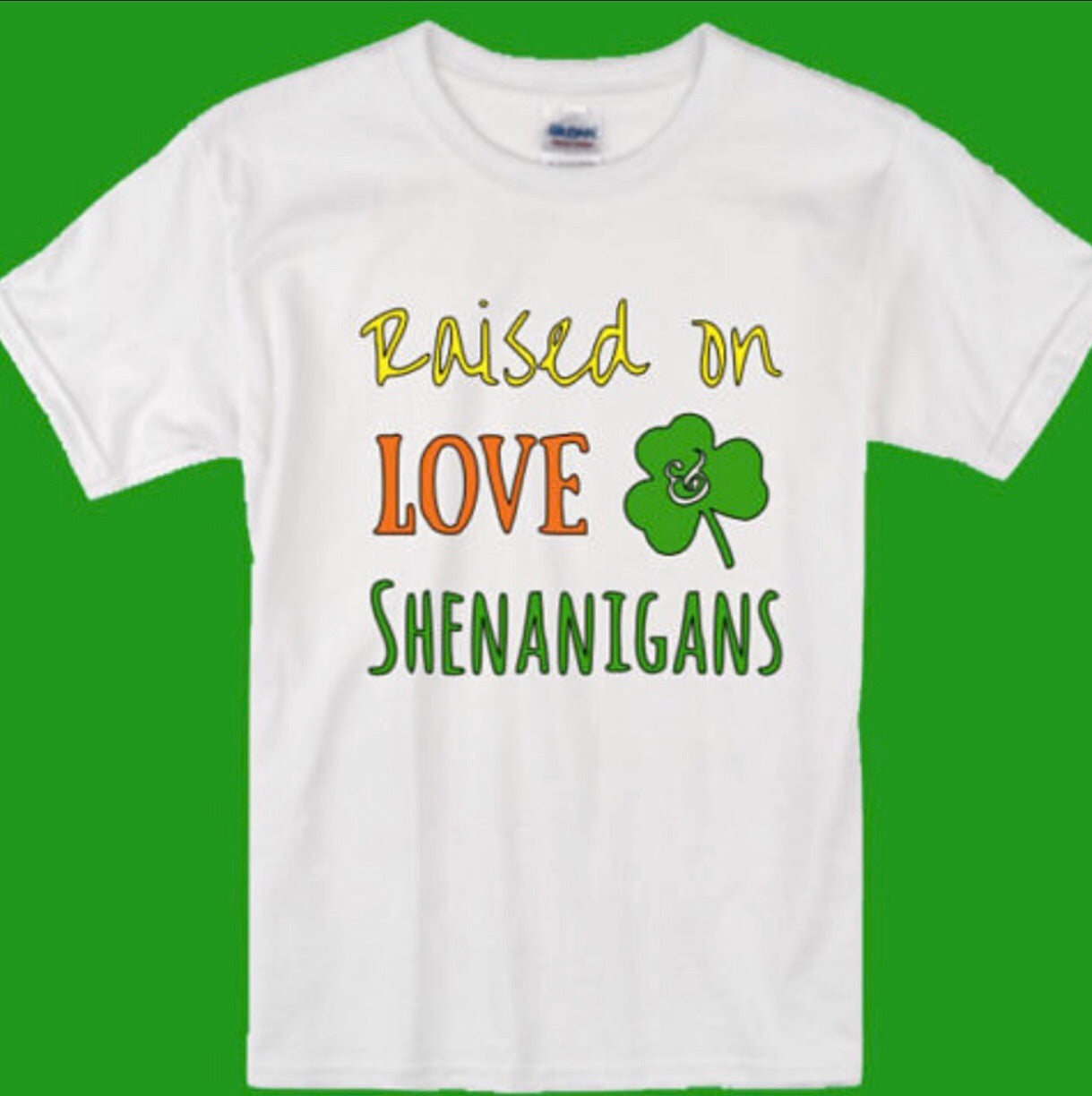 Raised on Love & Shenanigans Toddler Tee