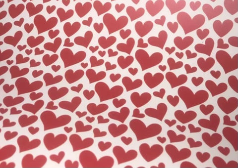 "Red/White Hearts Pattern 12""x20"" Sheet HTV"
