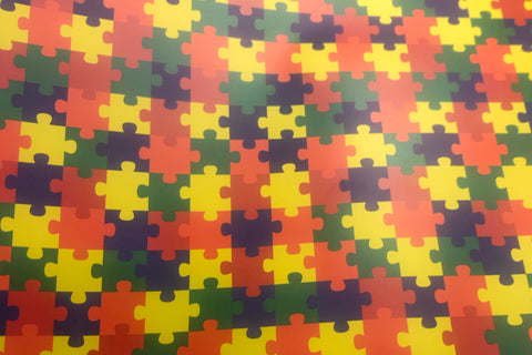 "Awareness Puzzle Pattern HTV Roll 20""x3'"