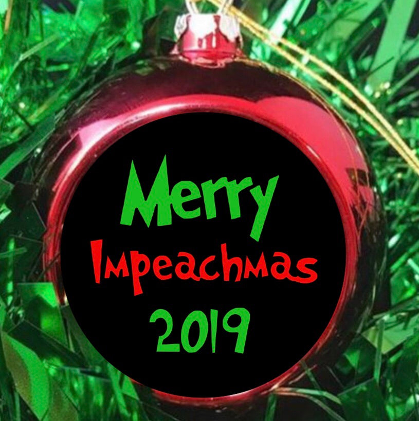 Merry Impeachmas Christmas Ornament