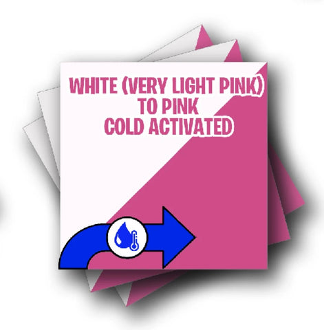 Cold Activated Light Pink to Pink Adhesive Vinyl