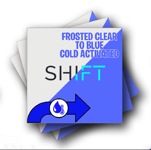 Cold Activated Clear to Blue Color Changing Adhesive Vinyl