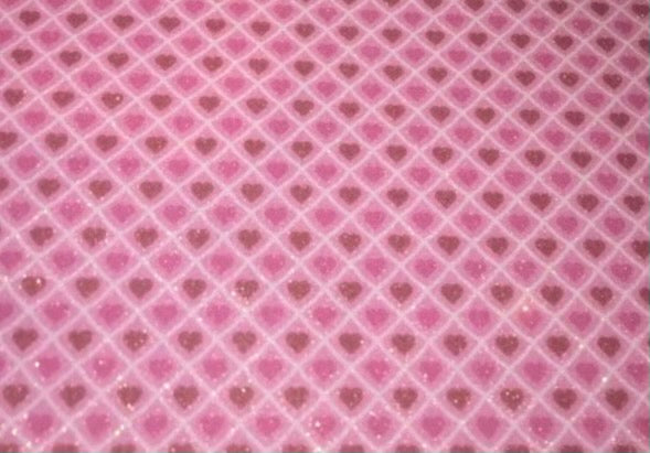 "Pink Diamond Hearts Glitter Pattern 20""x3' Roll HTV"