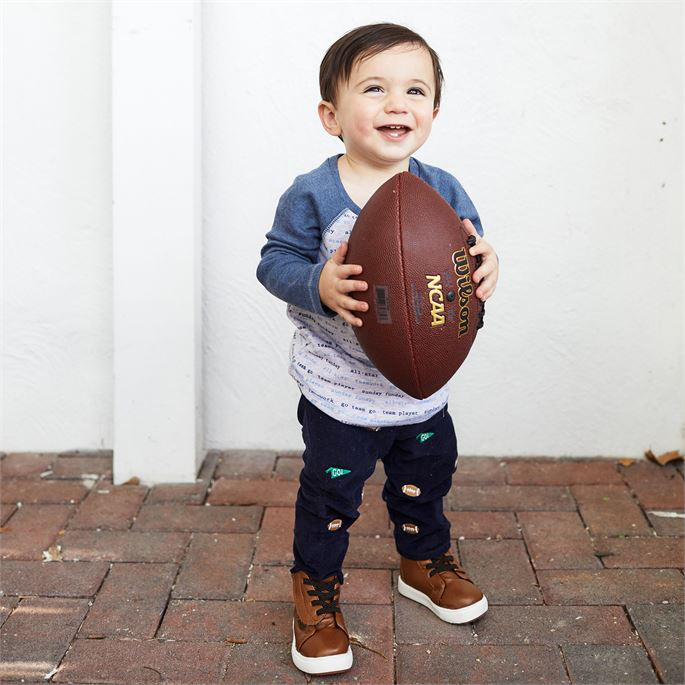 Navy Football Schiffly Corduroy Infant Pants- Select Size