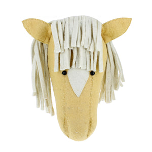 Load image into Gallery viewer, Felt Palomino Horse Head