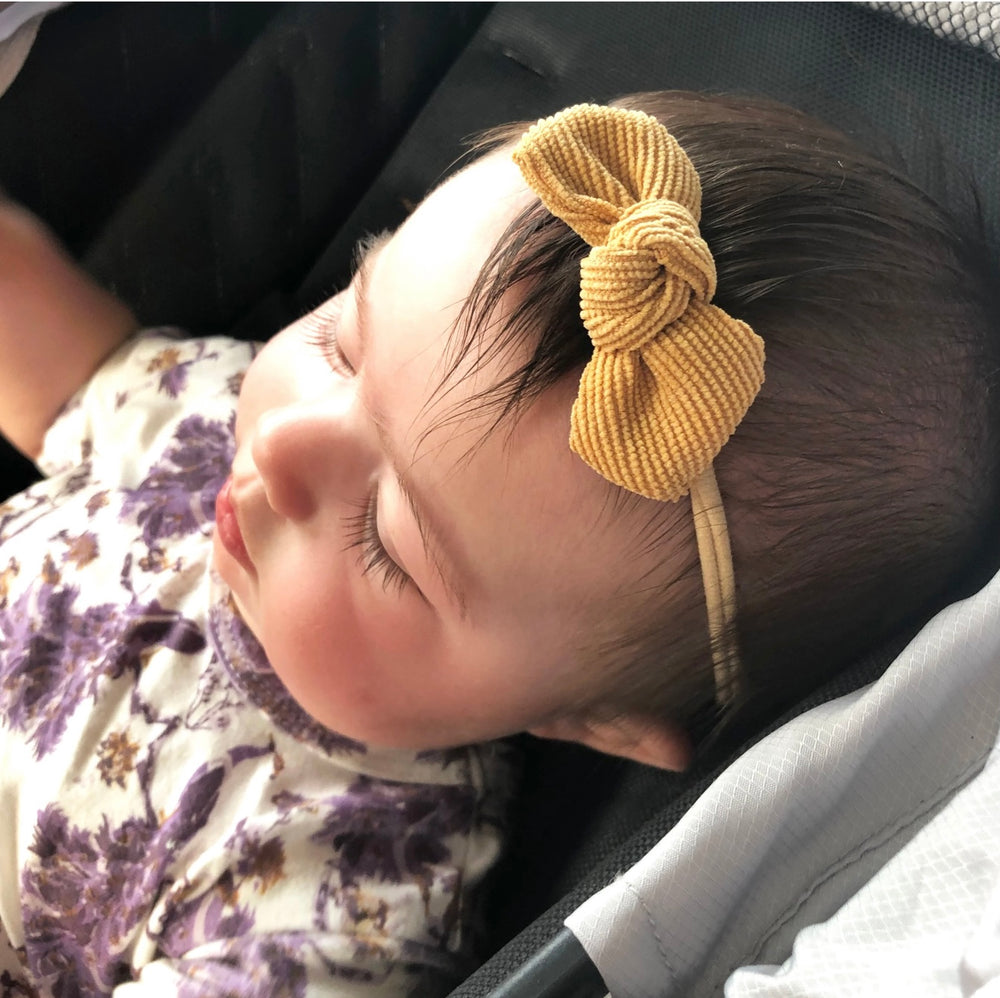 Cordelia Corduroy Knot Headband - Select Color