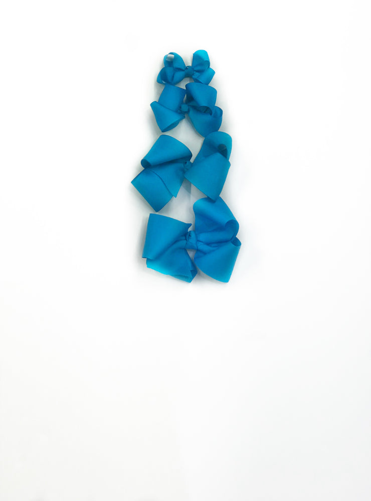 "Load image into Gallery viewer, Turquoise Hair Bow - Choose Size (3""-8"")"