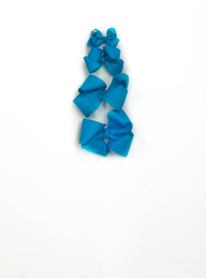 "Turquoise Hair Bow - Choose Size (3""-8"")"