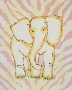 Safari Elephant in Pink - CP257 - Wall Art