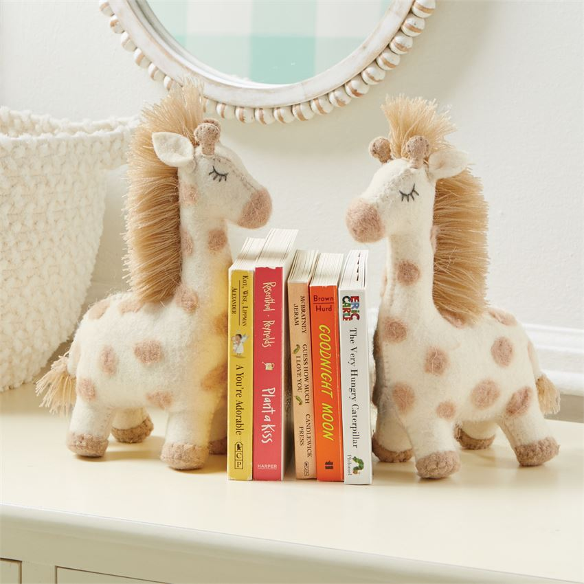 Giraffe Wool Bookend
