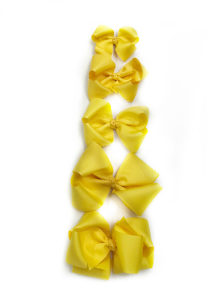 "Sunflower Yellow Hair Bow - Choose Size (3""-8"")"