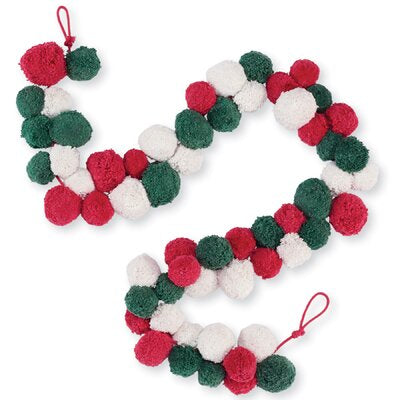Pom Pom Holiday Garland