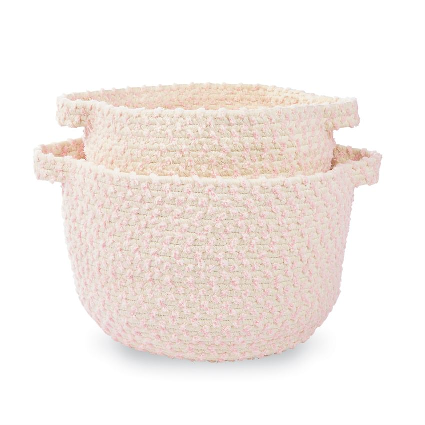 Pink Chenille Basket - Choose Size