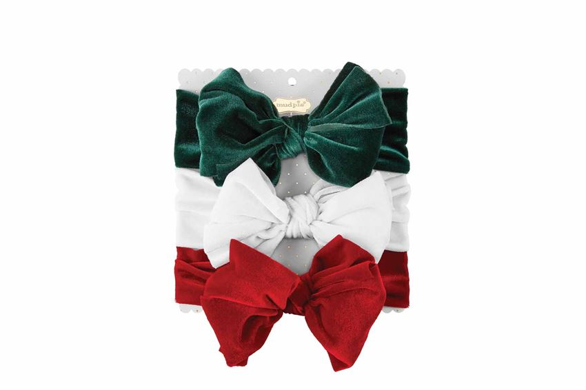 Holiday Velvet Headband 3 Piece Set
