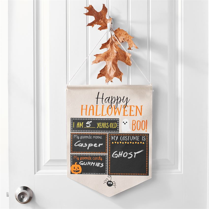 Halloween & Christmas Canvas Sign