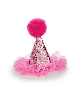 Hot Pink Glitter Party Hat
