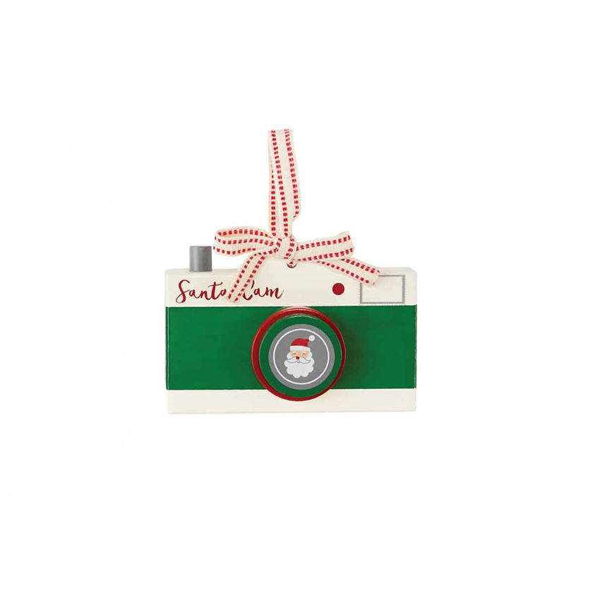 Santa Cam Ornament in Green