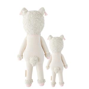"Load image into Gallery viewer, Lola the Llama - Hand Knit Doll - Choose Little (13"") or Regular (20"")"