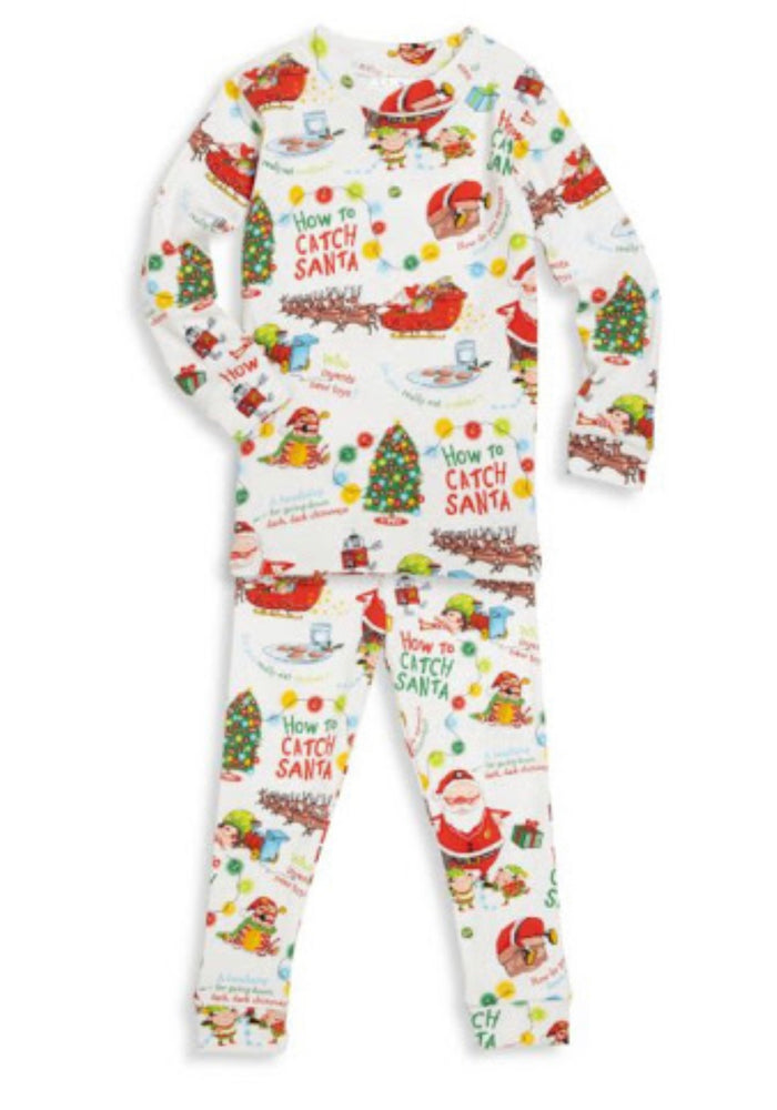 How to Catch Santa Pajamas - Choose White Or Green Background