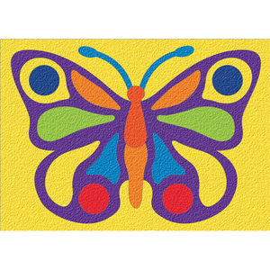 Lauri® Crepe Rubber Puzzle Butterfly