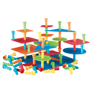 Tall-Stackers™ Pegs Building Set