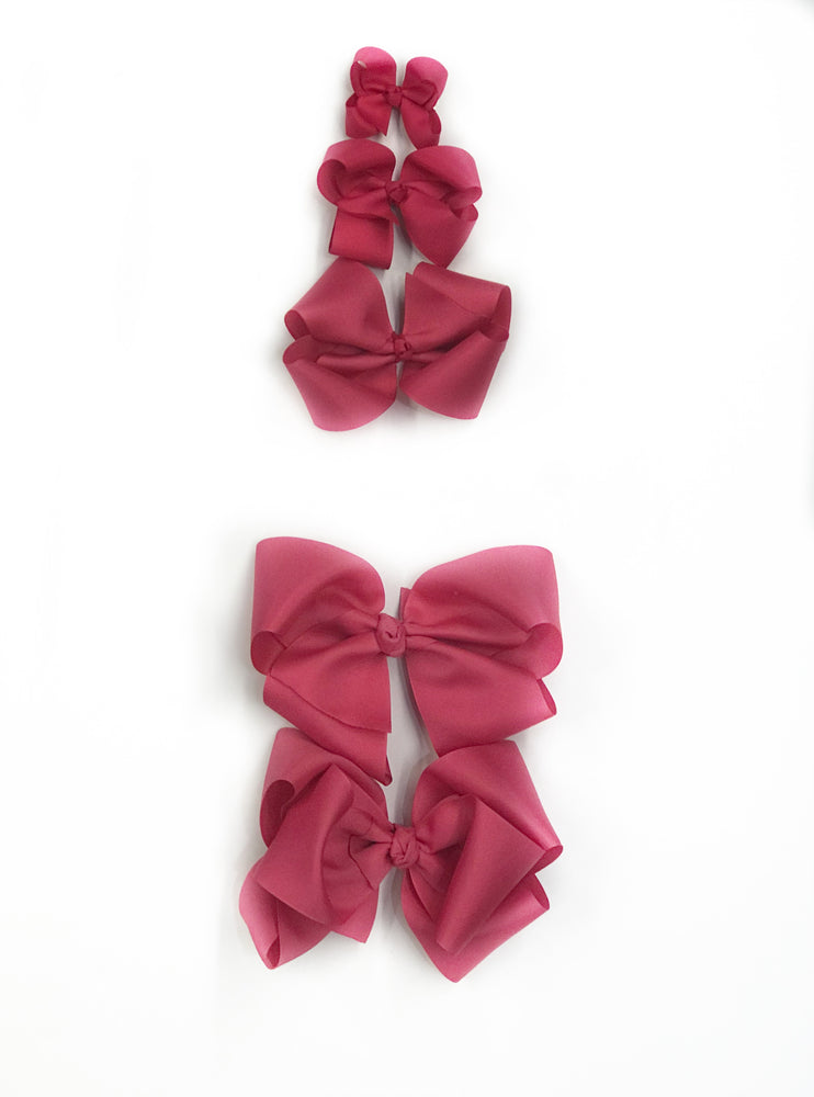 "Hot Pink Hair Bow - Choose Size (3""-8"")"
